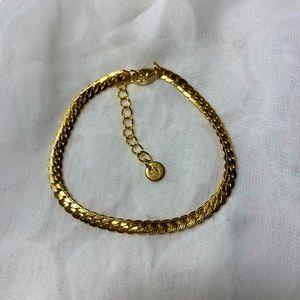 18k Gold Plated Snake Chain Bracelet
